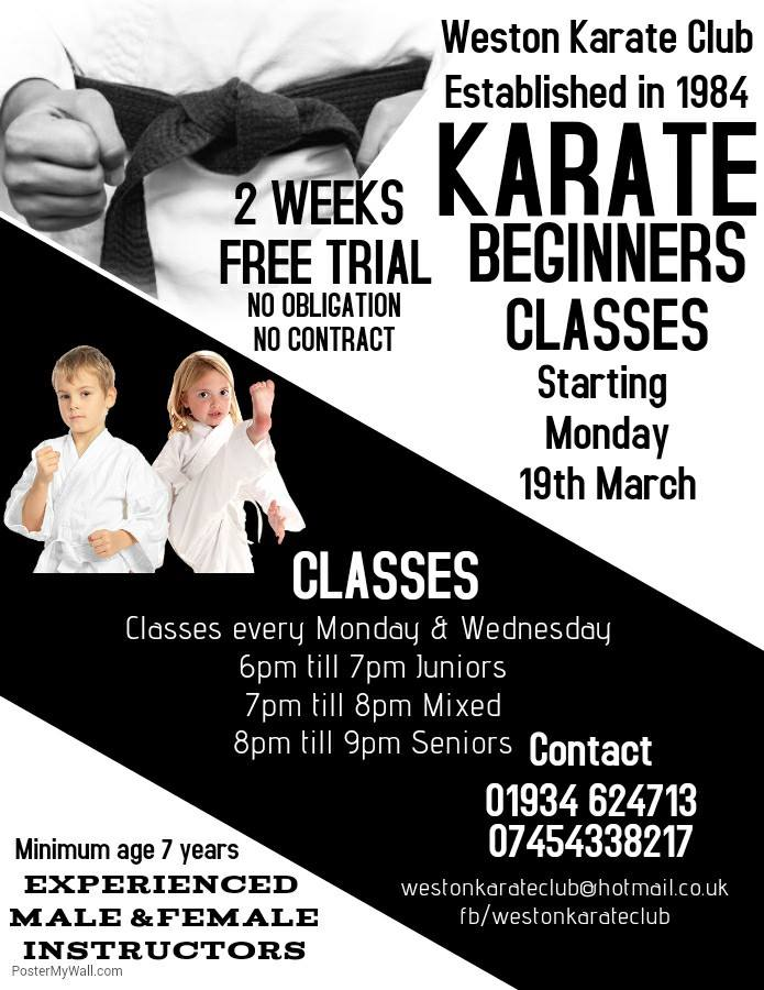 Beginners Classes Start 19th March
